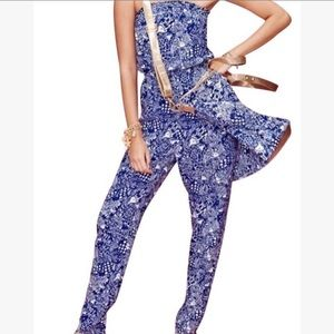 Lilly for Target Blue & White Jumpsuit